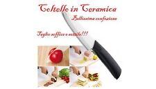 COLTELLO IN CERAMICA BIANCA 18cm TAGLIO LAMA 7,5cm RESISTENTE PER CUCINA