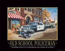 Law Enforcement Motivational Poster Art Print Police Car Badge Patch  PRO20