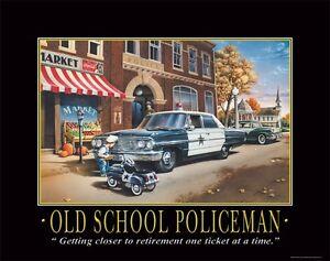 Law Enforcement Motivational Poster Print Print Police Station Pedal Car Artwork