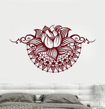 Vinyl Wall Decal Lotus Yoga Spa Center Bedroom Design Stickers (750ig)