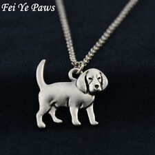 Stunning Silver Tone Beagle Dog Necklace.With Organza Bag .....