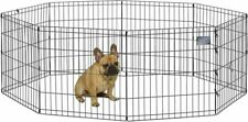"""MidWest Homes for Pets Folding Metal Exercise Pen 24"""" H, Black No Door"""