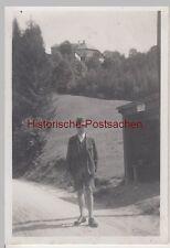 (F10645) Orig. Foto Mann Martin Schuller im Freien, Wanderung 1930/40er