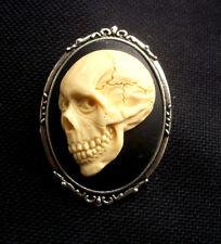 Cráneo De Resina broche camafeo gótico 60mm