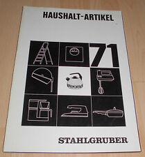 dachbodenfund katalog stahlgruber haushaltsartikel 1971 staubsauger,ofen,grill..