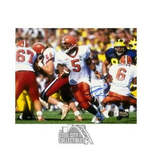 Donovan McNabb Autographed Syracuse Rolling Right 8x10 Photo - Steiner COA
