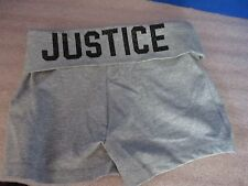 JUSTICE~Gray CASUAL Cotton Blend SHORTS~Girls Size 8~NWOT