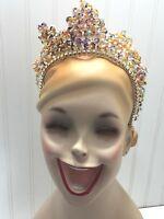 Beaded Tie On Beaded Tiara Crown Costume 23220