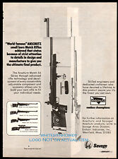 1979 ANSCHUTZ Model 1413 Match 54 Series Rifle Savage Arms PRINT AD