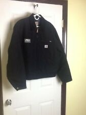 Carhartt mens black size large blanket lined full zip coat,EUC