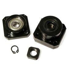 DIY 1 Set Fixed Side+Floated Side Ballscrew End Supports Bearing Block FF12/FK12