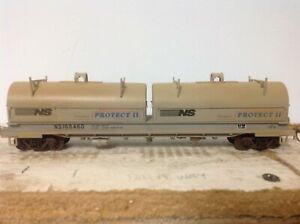Walthers HO coil cars, 4x weathered