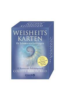 Weisheitskarten für Lebensentscheidungen 52 Karten mit Anleitungsbuch Baron-Reid
