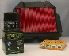 Honda VFR400 NC30 / RVF400 NC35 Service Kit (Air / Oil Filter & 4 x Spark Plugs)