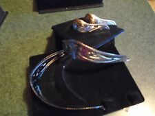 Antique Silver color Cowboy Western Boot Tips Toe & Heel Plates Pointy J toe