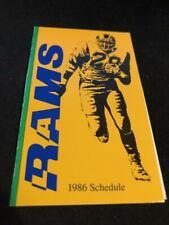 1986 Los Angeles Rams Football Pocket Schedule 76 Version Eric Dickerson