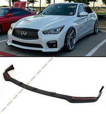 FRONT BUMPER LIP SPOILER SPLITTERS FITS FOR 2014-2017 INFINITI Q50 SPORT MODEL