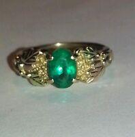 Emerald Black Hills Gold Ring