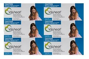 Valuheart Heartworm Tablets for Small Dogs Upto 10kg Monthly Dosage 6 X 6 Pack