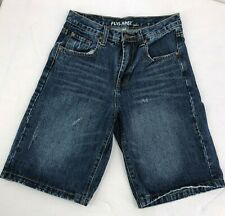 Flypaper Youth Boys Blue Denim Shorts Size 14 Distressed