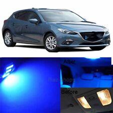 10Pcs Blue LED Light Lamp Interior Package For 2010-2017 Mazda 3 Sedan Hatch MP