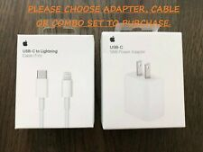 NEW OEM Apple 18W USB-C Fast Charging Wall Adapter Cable For iPhone iPad Pro