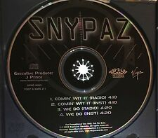 Snypaz Comin Wit It/We Do PROMO Single Rap-A-Lot L.A. J Prince No Barcode HTF