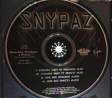 Snypaz Comin Wit It/We Do PROMO Single Rap-A-Lot L.A. J Prince No Barcode HTF