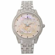Croton Women's CN207557RHMP Crystal Accents Quartz Mother of Pearl Dial Watch