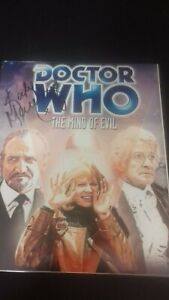 katy manning doctor who  10x8 autograph photo