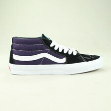 Vans Sk8 Mid Shoes Trainers Brand New in Black/Purple in UK Size 6,7,8,10,11
