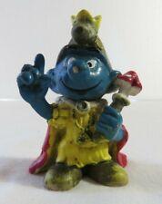 Vintage 1978 Schleich Smurf King figurine
