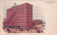 The Stratfield Hotel, Bridgeport, Connecticut, Early Postcard, Used in 1921