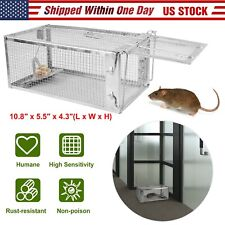 New Humane Animal Trap Steel Cage Live Mice Mouse Rodent Control Bait Catch