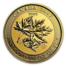 2017 1.5 oz Canadian Gold Maple Leaf $150 Coin .9999 Fine - The MegaLeaf - RCM