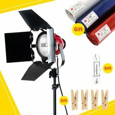 Video Continuous Red Head Light Kit 3 Gels Color Filter 4 Wooden Clip +Bulb 800W