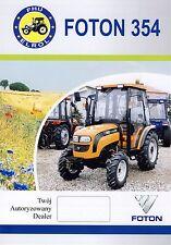 Foton Lovol 354 2014 catalogue brochure tracteur Traktor tractor rare