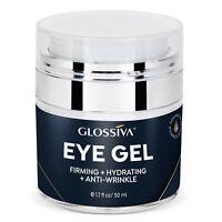 Glossiva Eye Gel Hyaluronic acid for Wrinkles Fine Lines Dark Circles Puffiness