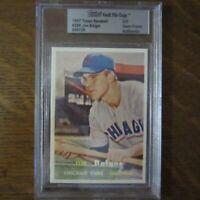 1957 Topps Vault File Copy JIM BOLGER 289 CHICAGO CUBS MLB Card BVG COA Rare
