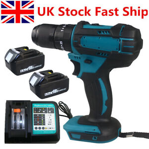 3-in-1 18V Cordless Brushless Drill Driver 13mm for Makita DHP483Z with Battery