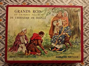 Nathan Jeu des familles Grands rois et grandes figures de l'histoire de France