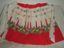 "Vintage Cotton Christmas In Different Languages Kitchen 21.5"" Apron With Pocket"