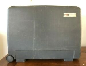 Vintage Delsey Club Hardside Black suitcase with wheels 24x18x8 Rolling Luggage