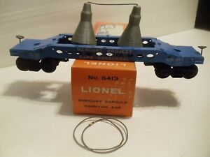 Lionel Postwar 6413 Mercury Capsule Car in C10 New Collectible Condition