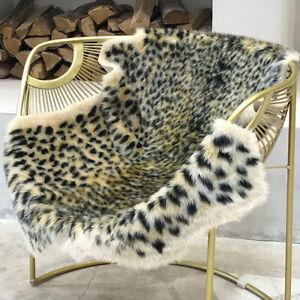 Leopard Animal Printed Area Rug Faux Cowhide Skin Rugs Mat Floor Carpet Home