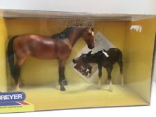 BREYER #3367 CUPID AND ARROW THOROBRED MARE AND NURSING FOAL IN BAY PAINT