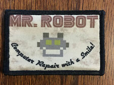Mr Robot Morale Patch FSociety Tactical Military USA Hook Badge Army Flag