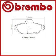 07.B314.28#15 PASTIGLIE FRENO ANTERIORE SPORTIVE BREMBO SPORT FIAT PANDA Van (16