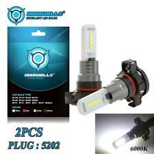 H16 5202 2504 Decoder Canbus Car LED Fog Light Bulbs 6000K Brake Signal Lamps