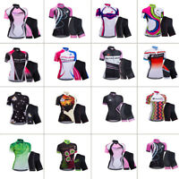 Zerobike Women's Breathable Quick Drying Cycling Bicycle Jersey Set Short Sleeve